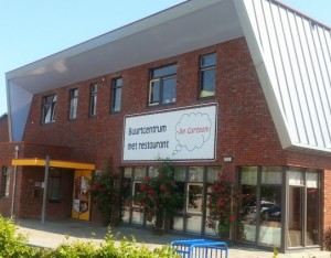 cartoon buurtcentrum